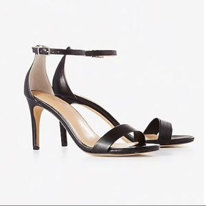 """3.5"""" strapped high heel sandals from Express"""